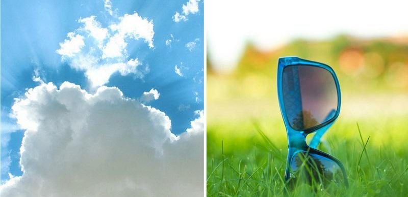 UV apsauga akims